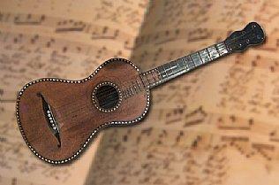 Original guitar, Silent Night Museum Hallein